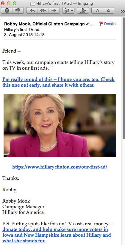 Email 27 from Hillary