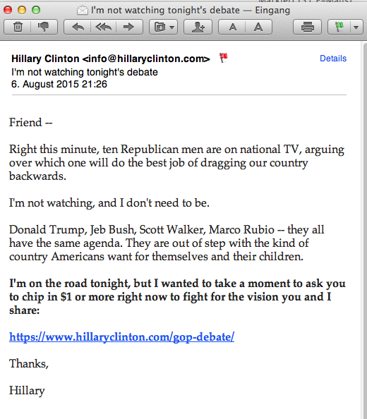 Email 30 - Hillary for America