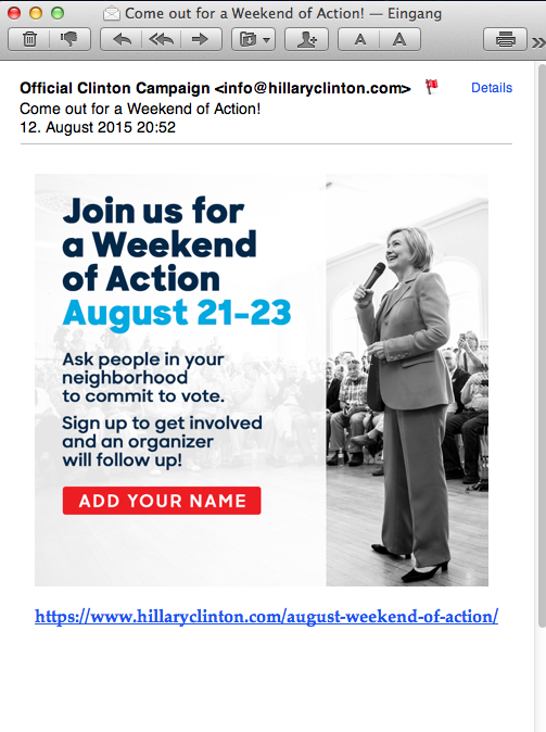 37th email from Hillary for  America