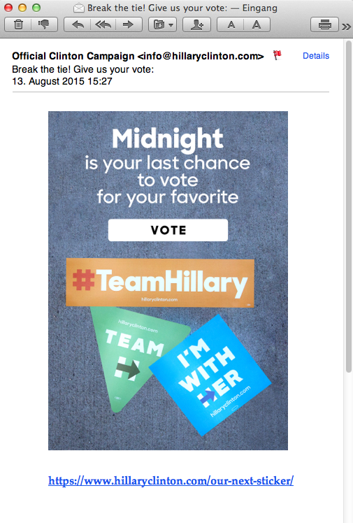 Email 39 from Hillary Clinton