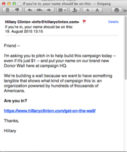 Email from Hillary Clinton - 43th