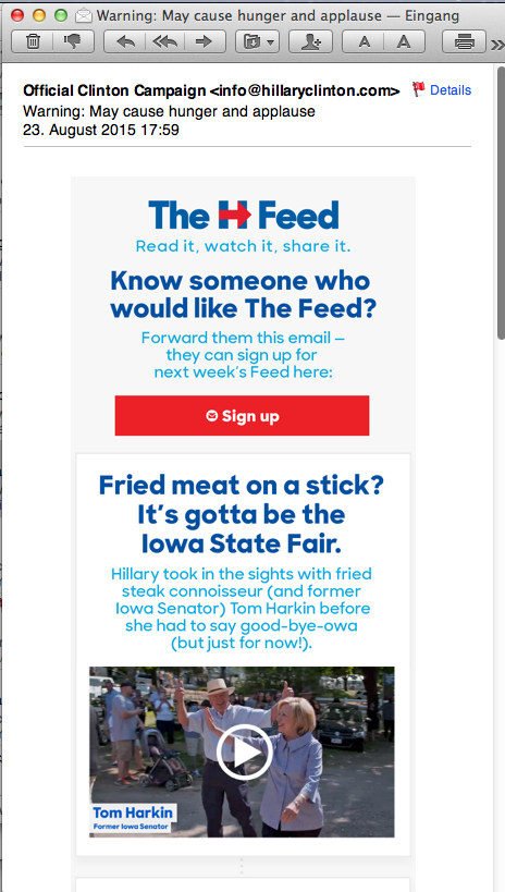 49th email from Hillary Clinton