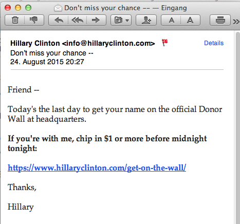 email n°51 from Hillary Clinton