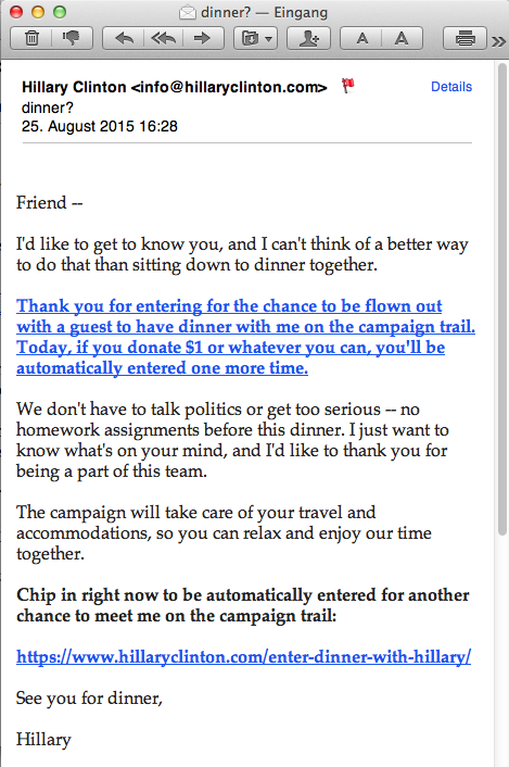 53th email from Hillary Clinton