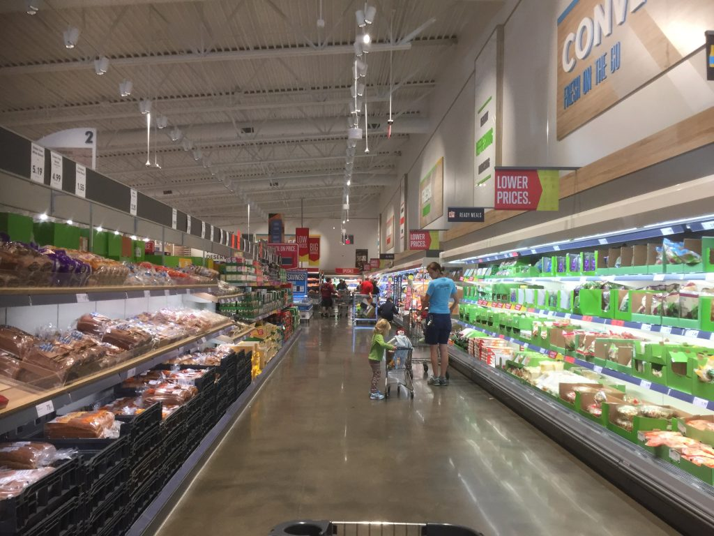 Inside a Lidl store in the US
