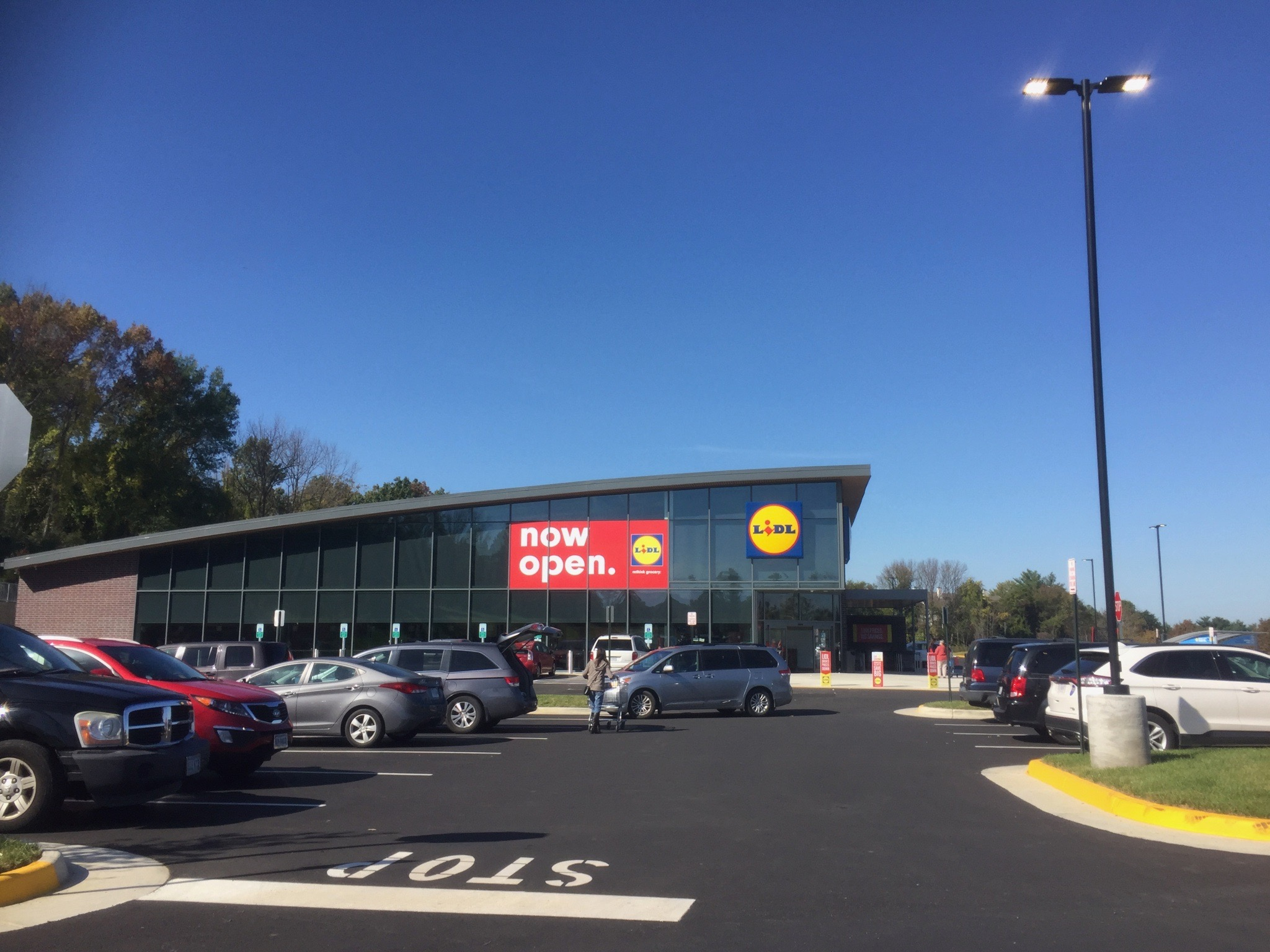 Inside the Lidl store in Manassas, VA
