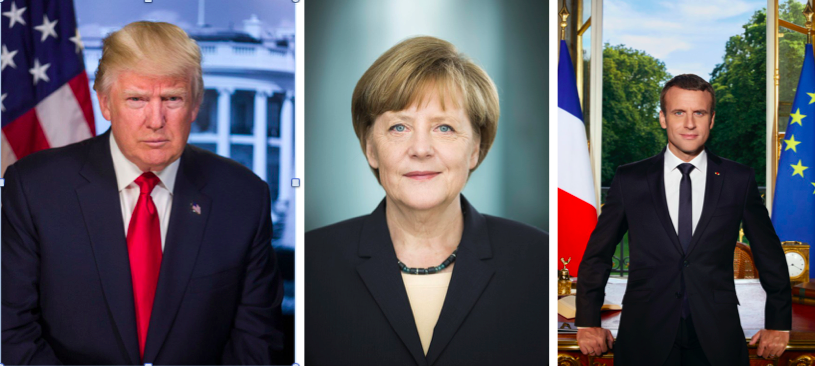 If a Picture Is Worth a Thousand Words, Does Trump, Merkel, or Macron Have the Best Portrait?